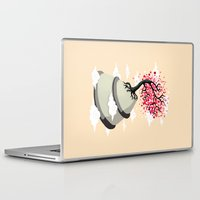 cherry blossom Laptop & iPad Skins featuring Cherry Blossom by Freeminds