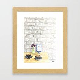 Conversation Series :: Work from home Framed Art Print