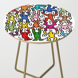 Homage to Keith Haring Acrobats II Side Table