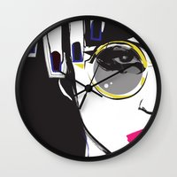 depeche mode Wall Clocks featuring Mode by shutupjade
