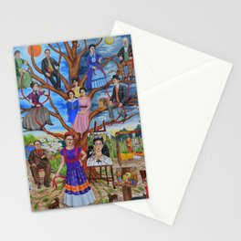 Frida Kahlo custom family tree painting Stationery Cards