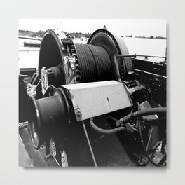Cable Winch Metal Print