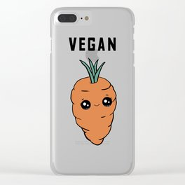Sweet Carrot Vegan Clear iPhone Case