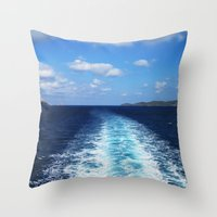 voyage Throw Pillows featuring Voyage by aeolia