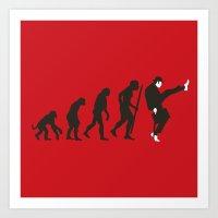 Evolution of silly walks Art Print