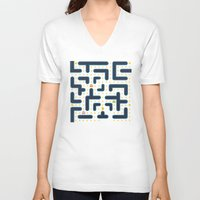 pacman V-neck T-shirts featuring RETRO GAME by Vickn