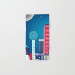 Dallas, Texas - Skyline Illustration by Loose Petals Hand & Bath Towel
