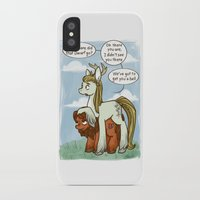 legolas iPhone & iPod Cases featuring Legolas and Gimli ponies MLP Lord of the Rings Crossover Parody  by BlacksSideshow