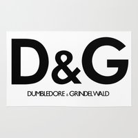 dumbledore Area & Throw Rugs featuring Dumbledore & Grindelwald by Christina