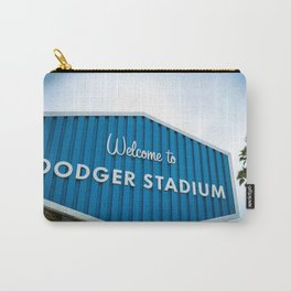 Welcome to Dodger Stadium | Los Angeles California Nostalgic Iconic Sign Art Print Tapestry Carry-All Pouch