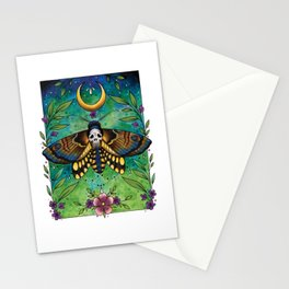 Neo Traditional Deaths-head moth Stationery Cards