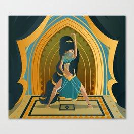 arabian belly dance dancer girl Canvas Print