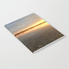 Sunrise at autumn lake Notebook