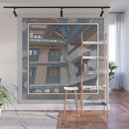 BHAKTAPUR NEPAL BRICKS WINDOWS WIRES Wall Mural