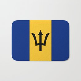 Flag of Barbados Trident of Neptune Bath Mat