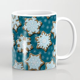 Frosted Gingerbread on Winter Night Sky Coffee Mug