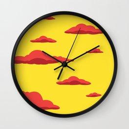 Cloudscape - Yellow Wall Clock