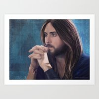 jared leto Art Prints featuring Jared Leto by Whitney Silva