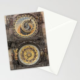 The Prague Astronomical Clock photo Stationery Cards