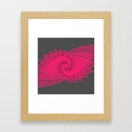hypnotized - fluid geometrical eye shape Framed Art Print