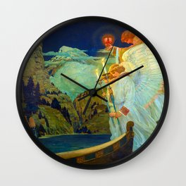 The Knight of the Holy Grail, 1912 by Frederick Judd Waugh Wall Clock