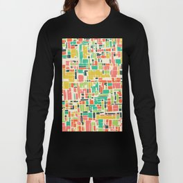Road map abstract pattern Long Sleeve T-shirt
