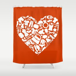 Heart clothes Shower Curtain