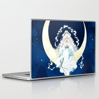 airbender Laptop & iPad Skins featuring Yue - Avatar by Stephanie Kao