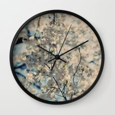 White Spring Wall Clock
