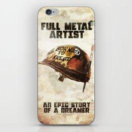 Full metal artist iPhone Skin