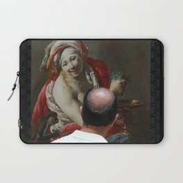 Painting Watching Person Laptop Sleeve
