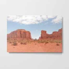 Monument Valley | United States travel photography | Bright and pastel colored photo print |  Metal Print
