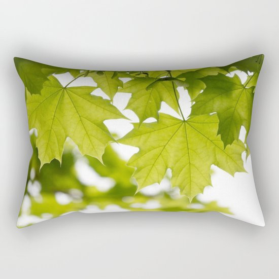 The Green Leaves of Summer Rectangular Pillow