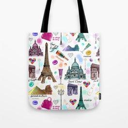 Voyage à Paris (Watercolor) Tote Bag