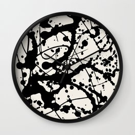 Cheers to Pollock Wall Clock