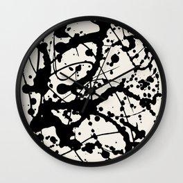Cheers to Pollock Wall Clock