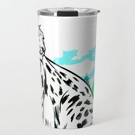 Animal Art Beautiful Snow Leopard Travel Mug