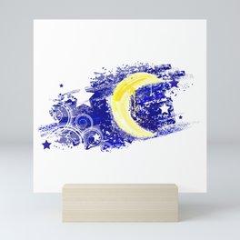 Moon painted Mini Art Print
