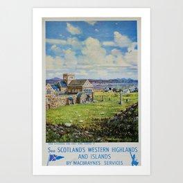 Western Highlands Vintage Travel Poster Art Print