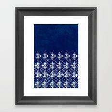Blue Summer Pattern Framed Art Print