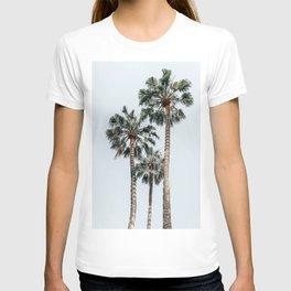 Palm Trees, Miami Summer Vibes, Minimalist Art Print, Minimal Pastel Colored Coconut Trees, Summer Time Poster, Palm Tree Print, Beach Vibes, Home Decor, Wall Art Print T-shirt