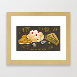 Happy Hannukah card Framed Art Print