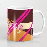 lamborghini Mugs featuring Lamborghini Abstract by AEComics
