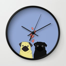 Pantone Pugs Wall Clock