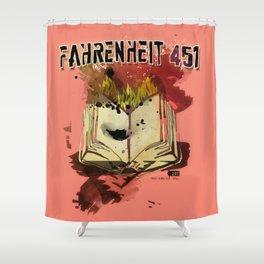 Fahrenheit 451 Shower Curtain