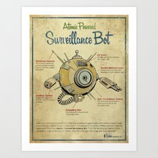 Surveillance Bot Eyeball print. Art Print