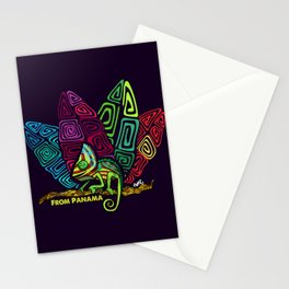 Panamanian kuna chamaleon Stationery Cards