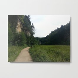 Journey - green Metal Print