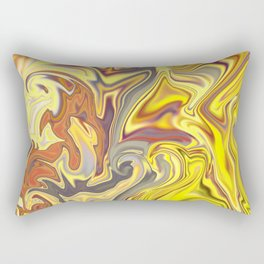 Wild Yellow Madness Liquid Marble Rectangular Pillow