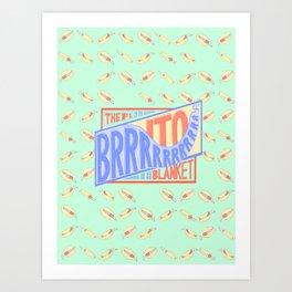 The Brrrrito Blanket Art Print